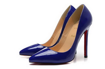 Christian Louboutin Patent Leather 120mm Pump CL1435 Blue