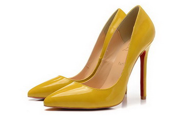 Christian Louboutin Patent Leather 120mm Pump CL1435 Yellow