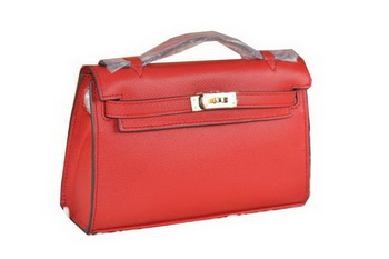 Hermes MINI Kelly 22cm Tote Bag Calfskin Leather Red