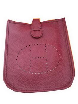 Hermes mini Evelyne Messenger Bag H1608S Burgundy
