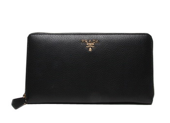 Prada Grainy Leather Wallets 1M1188 Black