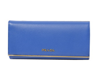 Prada Saffiano Leather Wallet 1M1132_QME Royal