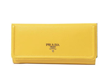 Prada Saffiano Leather Wallet 1M1132_QME Yellow