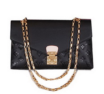 Louis Vuitton Monogram Empreinte Pallas Chain Bag M41202 Black