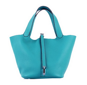 Hermes Picotin Lock PM Bag in Clemence Leather H8615 Green