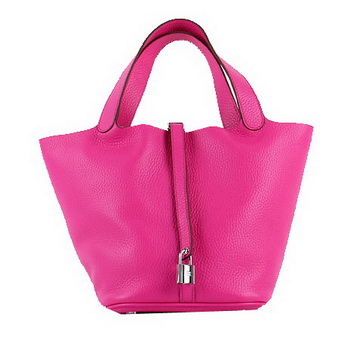 Hermes Picotin Lock PM Bag in Clemence Leather H8615 Rose