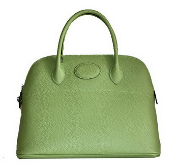 Hermes Bolide 37CM Calfskin Leather Tote Bags H509084 Green