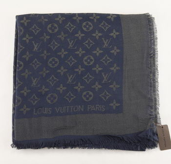 Louis Vuitton Scarves Cotton LV6724B Navy blue