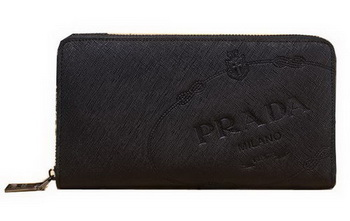 Prada Saffiano Leather Wallets P8012 Black