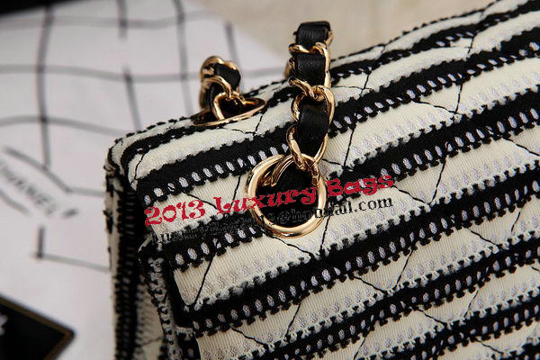 Chanel 2.55 Series Flap Bags Black Jersey and Lambskin CHA1112 Gold