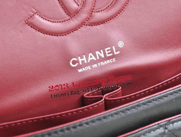 Chanel 2.55 Series Bags Black Sheepskin Leather CHA1112 Silver