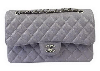 Chanel 2.55 Series Bags Lavender Cannage Pattern Leather CFA1112 Silver