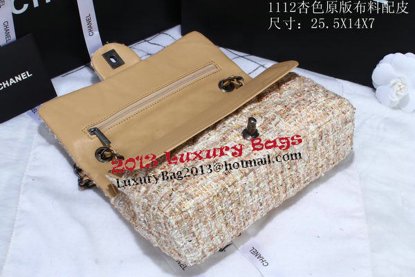 Chanel 2.55 Series Flap Bags Fabric CHA1112 Apricot