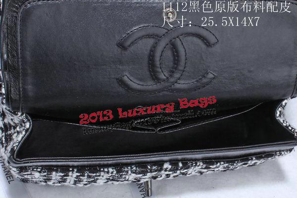 Chanel 2.55 Series Flap Bags Fabric CHA1112 Black