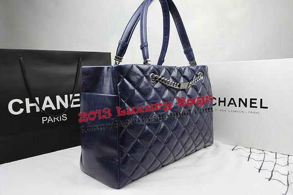 Chanel Calfskin Shopping Bag Embellished A92525 Royal