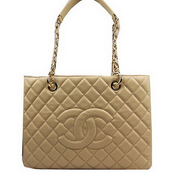 Chanel Classic Coco Bag Apricot GST Caviar Leather A50995 Gold