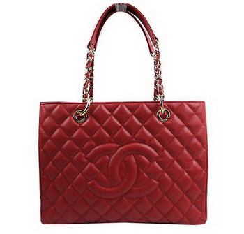Chanel Classic Coco Bag Red GST Caviar Leather A50995 Gold