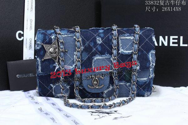 Chanel Classic Flap Bags Denim Fabric A33832 Blue