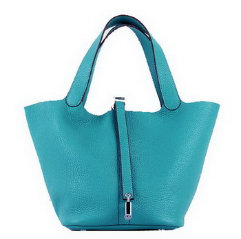 Hermes Picotin Lock MM Bags Clemence Leather H8616 Green