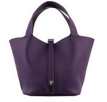Hermes Picotin Lock MM Bags Clemence Leather H8616 Purple