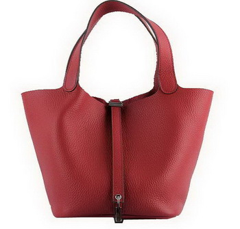 Hermes Picotin Lock MM Bags Clemence Leather H8616 Red