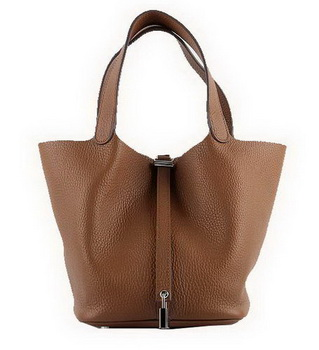 Hermes Picotin Lock MM Bags Clemence Leather H8616 Wheat