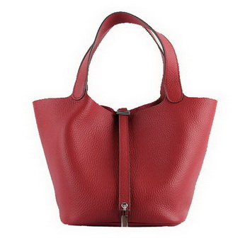 Hermes Picotin Lock PM Bags Clemence Leather H8615 Red