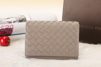 Bottega Veneta Shock Intrecciato Washed Vintage Card Case 133945 Grey