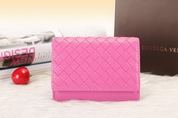 Bottega Veneta Shock Intrecciato Washed Vintage Card Case 133945 Rose