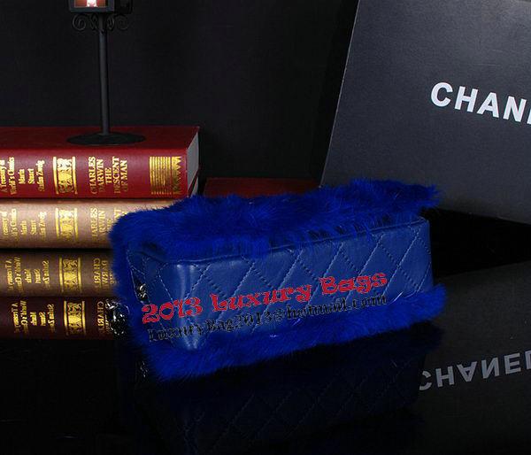 Chanel Cony Hair Flap Bags A92592P Blue