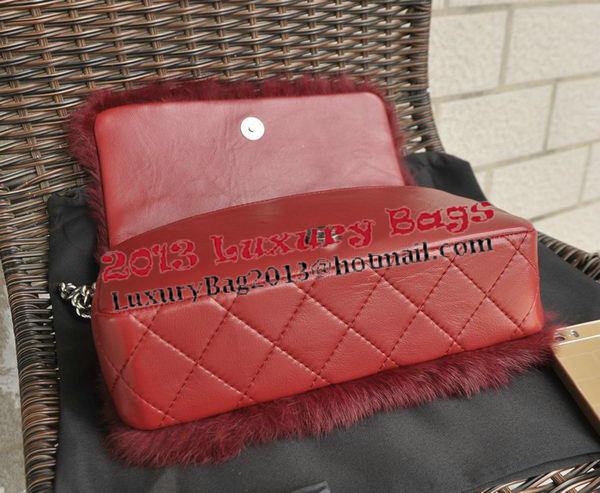 Chanel Cony Hair Flap Bag A92522 Burgundy