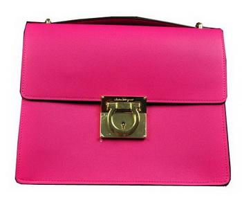 Ferragamo Calfskin Leather Medium Shoulder Bag SF0614 Rose