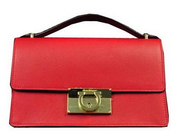 Ferragamo Calfskin Leather Small Shoulder Bag SF0615 Red