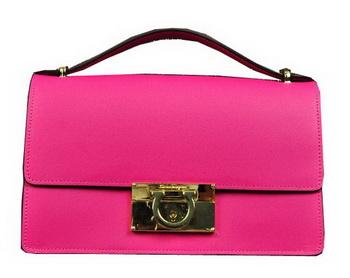 Ferragamo Calfskin Leather Small Shoulder Bag SF0615 Rose
