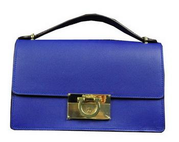 Ferragamo Calfskin Leather Small Shoulder Bag SF0615 Royal