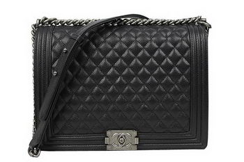 Boy Chanel Flap Shoulder Bag Original Cannage Pattern A67087 Black