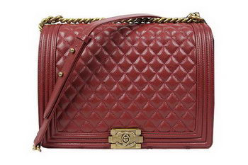 Boy Chanel Flap Shoulder Bag Original Cannage Pattern A67087 Burgundy
