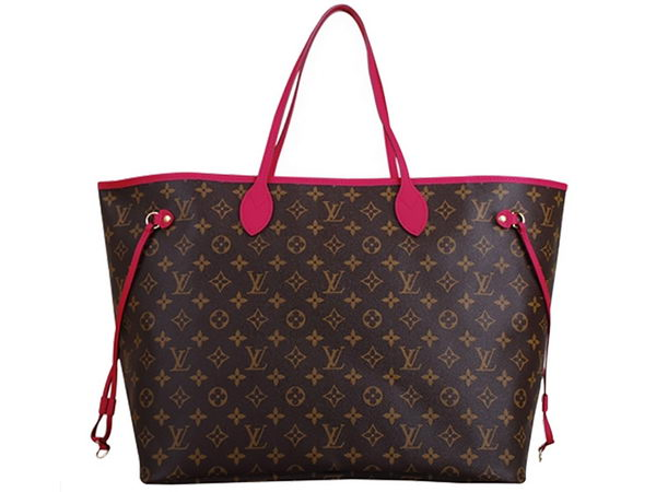 LOUIS VUITTON 2013 MONOGRAM CANVAS M40876 NEVERFULL GM INDIAN ROSE