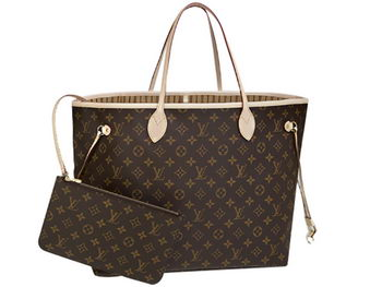 LOUIS VUITTON M40990 MONOGRAM CANVAS NEVERFULL GM BEIGE