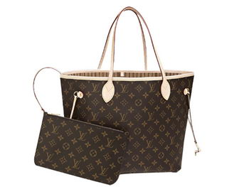 LOUIS VUITTON M40995 MONOGRAM CANVAS NEVERFULL MM BEIGE