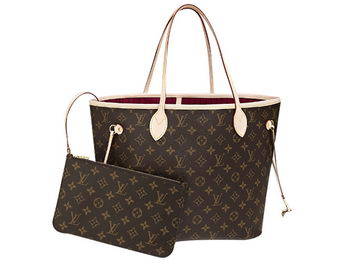 LOUIS VUITTON M40996 MONOGRAM CANVAS NEVERFULL MM FUCHSIA