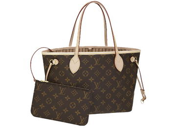 LOUIS VUITTON M41000 MONOGRAM CANVAS NEVERFULL PM BEIGE