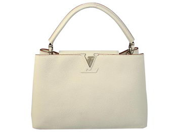 LOUIS VUITTON M48865 CAPUCINES BAG MM CREAM