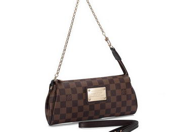 Louis Vuitton N55213 Damier Ebene Canvas Eva Clutch