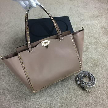 Valentino Garavani Rockstud Tote Bag Original Leather VG1917 Beige