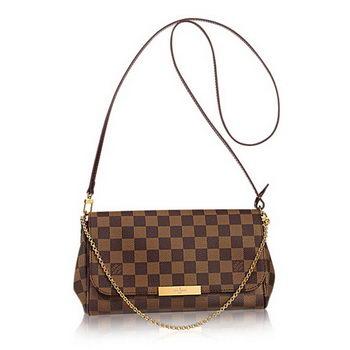 Louis Vuitton N41129 Damier Ebene Canvas Favorite MM Bag