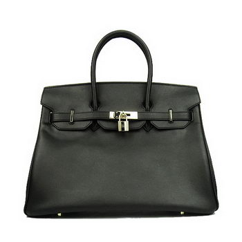 Hermes Birkin 35CM Tote Bag Black Smooth Leather H6089 Gold