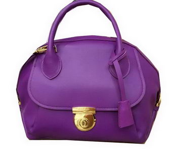Ferragamo Medium Tote Bag Calfskin Leather SF0612 Purple