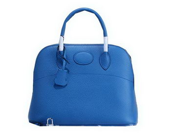 Hermes Bolide 31CM Calfskin Leather Tote Bag H509083 Blue