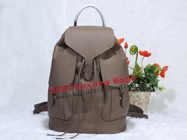 Hermes Calfskin Leather Backpack H1718 Grey